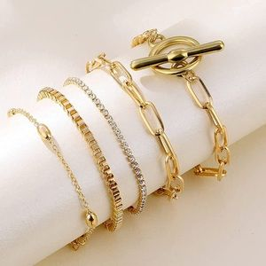 Layered Bracelet Set Gold Plated